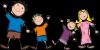 család, gyerekek illusztrció